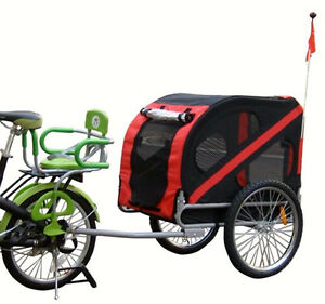 Pet Bicycle Trailer w /hitch Pet dog Trailer Folding Cat Carrier