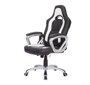 Chaise De Bureau Faux Cuir Chauffante et Massage