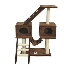 """43"""" Cat Tree with Hammock and 2 condos —Free Shipping—"""