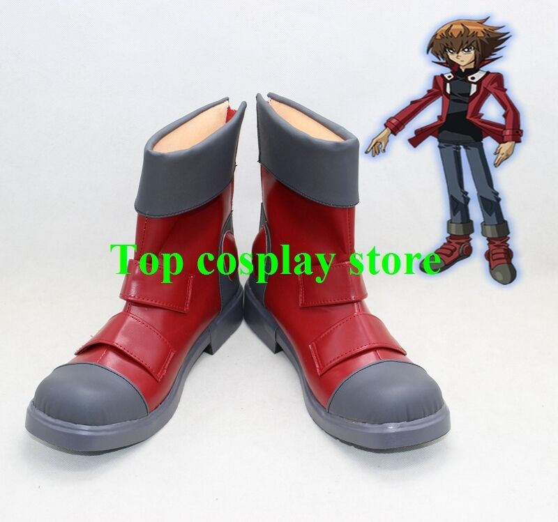 Yu-Gi-Oh! GX  Yuki Judai Jaden Yuki cos Cosplay Shoes Boots shoe boot