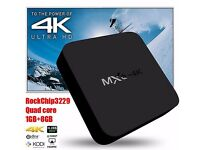 BRAND NEW BOXED - 4k ANDROID TV BOX - Get set for christmas.