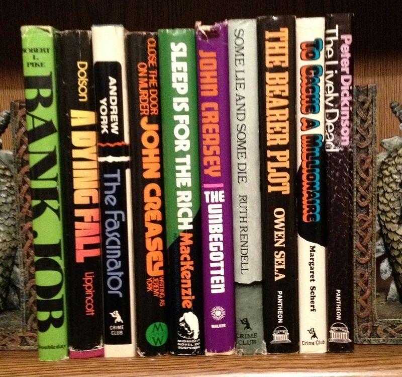 Lot of 10 Vintage Mystery Books - Hardbacks, Dust Jackets, Crime Club, Pantheon