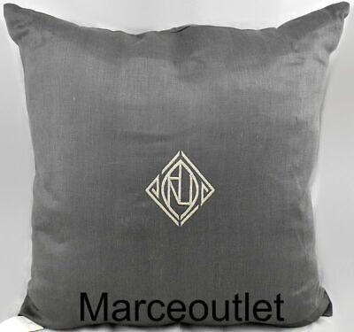 """Ralph Lauren Aldrich Linen 20"""" x 20"""" Decorative Pillow Charcoal"""