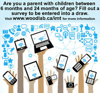 Parents of Children 6 to 24 Months Needed for Online Survey