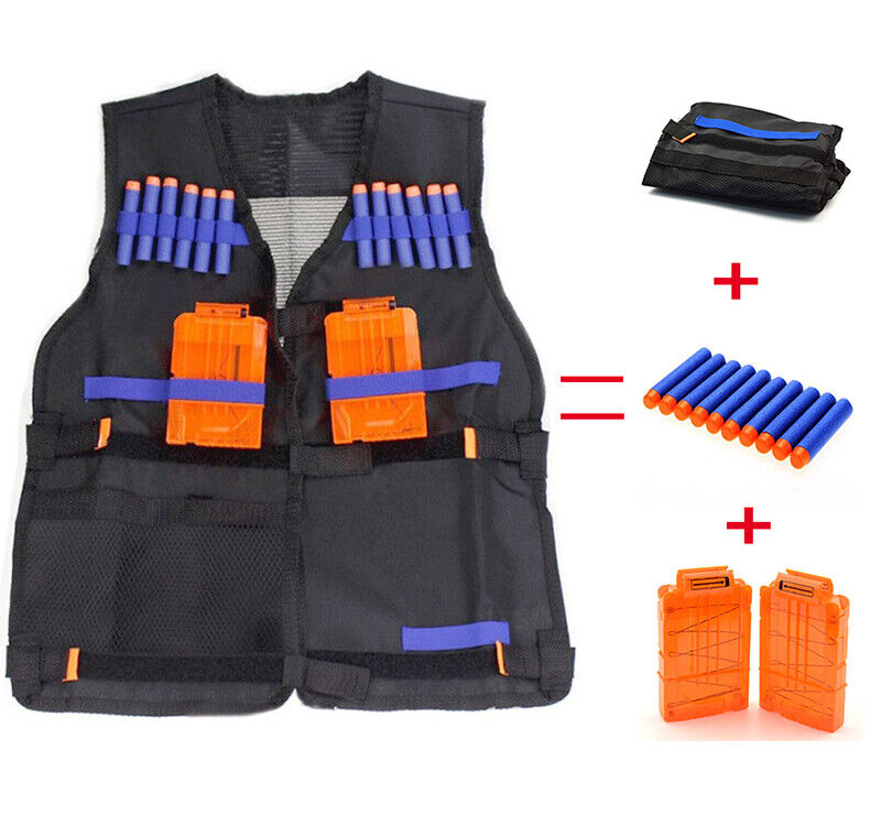 Tactical Vest Kit Compatible for Nerf Guns for Boys N-Elite