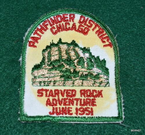 BOY SCOUT COUNCIL ACTIVITY PATCH - 1951 PATHFINDER DISTRICT - CHICAGO - CUT EDGE
