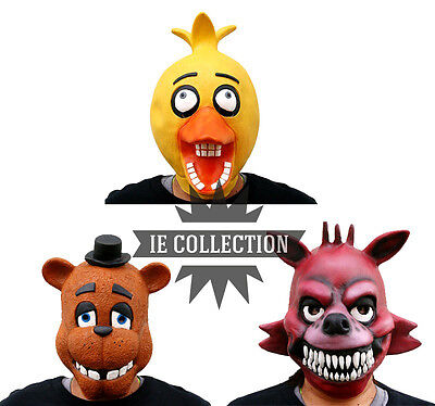Five Nights At Freddy's Masks cosplay halloween foxy chica 4 fazbear mask - Five Nights At Freddy's 4 Halloween