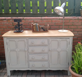 Vintage ercol shabby chic sideboard