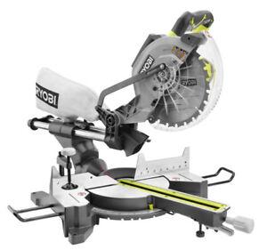 RYOBI15-Amp 10 inch Sliding Mitre Saw W/ Laser & Stand