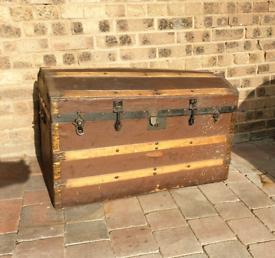 **£125** Antique Wooden Treasure Chest