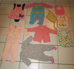 Lot de vêtements pour bébé fille 0-12 mois