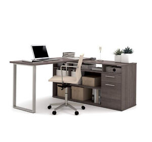 Solay Gray L-Shape Desk !!! BRAND NEW !!!