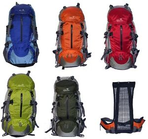 New 50L Pack School Cycling Bag Travel Hiking Backpack Camping