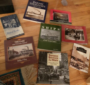 Assorted Books - Toronto History, Steamships