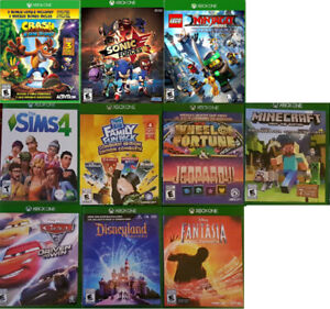 XBOX One Kids and Kinect games (Various Prices) `