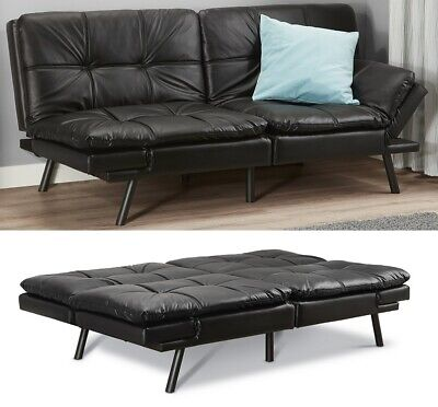 Memory Foam Futon Sofa Bed Couch Sleeper FULL Size Convertible Foldable Loveseat