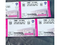 3 x Creamfields Standard 3 Day Camping Tickets