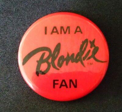Blondie Original 1979 Eat To The Beat / I Am A Bondie Fan Vintage Button Pin
