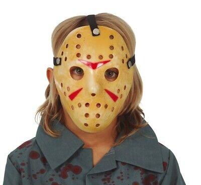 Plastik Jason Horror Friday Halloween Kostüm Masken Kinder (Kinder Jason Kostüme)