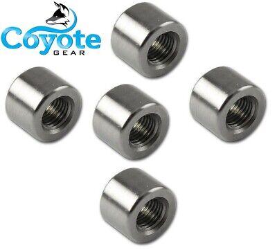 5 Pack 18 Npt - 304 Stainless Steel Half Coupling Weld Bungs 150 Coyote Gear