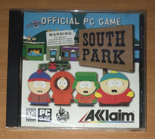 Computer Games - South Park Official PC Computer Game Acclaim 1999 CD-ROM