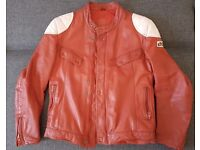Leather Jacket Red SIZE M