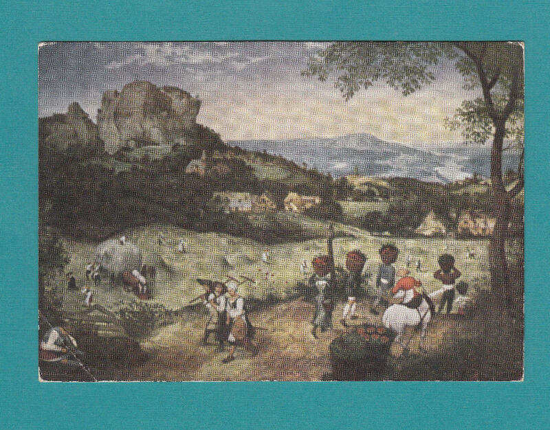 "Peter Brueghel 1528-1569 HAYMAKING DIVIDED BACK POSTCARD 4""x 6"" PRINTED DUTCH"