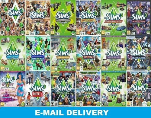 The Sims 3 ALL EXPANSIONS - Complete Collection 💗 Only Windows 💗 ALL PACKS 💗