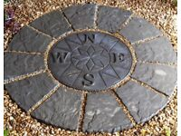 Patio Paving Circle Feature 1.2m 4ft Compass Centre Garden Feature