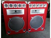 soundlab dj speakers with subs and amp