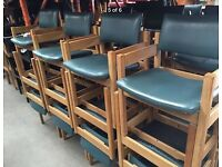 Sold Wooden & leather chair with arm job lot