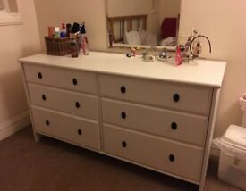 White wooden drawers