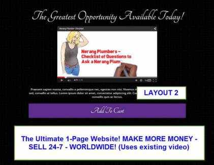 SIMPLE ONE PAGE WEBSITES FOR SMALL BUSINESSES WORLDWIDE Gold Coast Region Preview