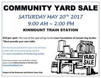 Kinmount Community Yard Sale