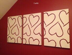 3x hand made box canvas