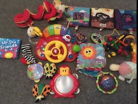 Huge assortment of baby toys fisher price v tech lamaze