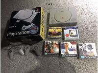 Sony PlayStation PS1. All leads and games.
