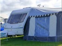 Abbey Aventura 315 caravan and Awning