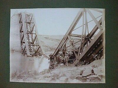42 Fotografien-Albumin 1900, Album, Brückenbau, Eisenbahn, Burenkrieg,van Hoepen