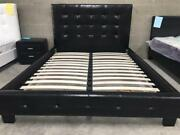 PU Leather Bed Frame on Special in Black/White Melbourne CBD Melbourne City Preview