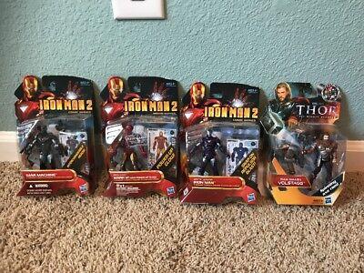 Hasbro IRON MAN 2 Thor Four Figures New on card MARK VI Volstagg War - Mark Vi Iron Man