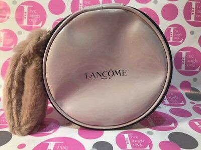 LANCOME CIRCULAR MAKEUP BAG FAUX FUR NEW