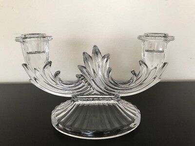 Vintage Fostoria BAROQUE Two-Light Candle Holder CLEAN - LOW PRICE!!!