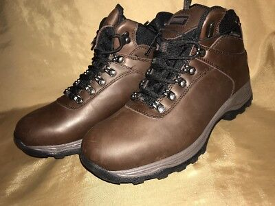 KHOMBU Ravine INSULATED size 11 Mens Brown Leather WATERPROOF Hiking Work Boots