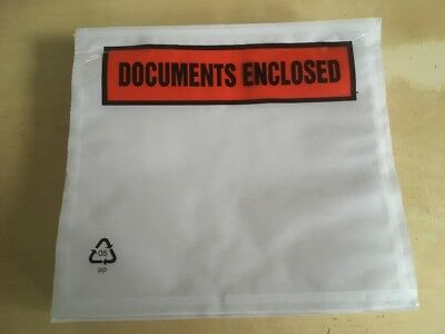 10 x DOCUMENT ENCLOSED ENVELOPES Printed  A7 Quality Postal Wallet