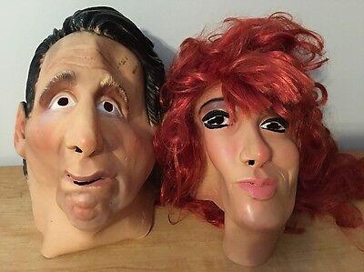 Rare Al & Peggy Bundy Masks Made Germany Halloween Costume Married Children - Peggy Bundy Halloween Costume