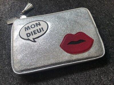 NEW IPHORIA Silver Tone Glitter Pouch **FREE UK P&P**