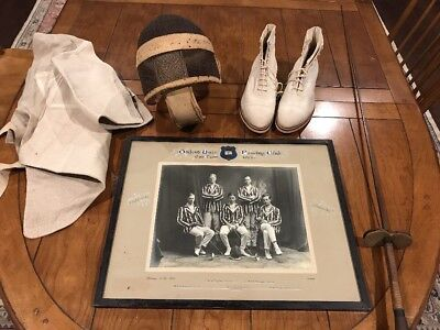 6a3e081cbbd VINTAGE 1925 OXFORD UNIV FENCING CLUB TEAM PHOTO WITH ORIG EQUIPMENT.MUST  SEE!!!