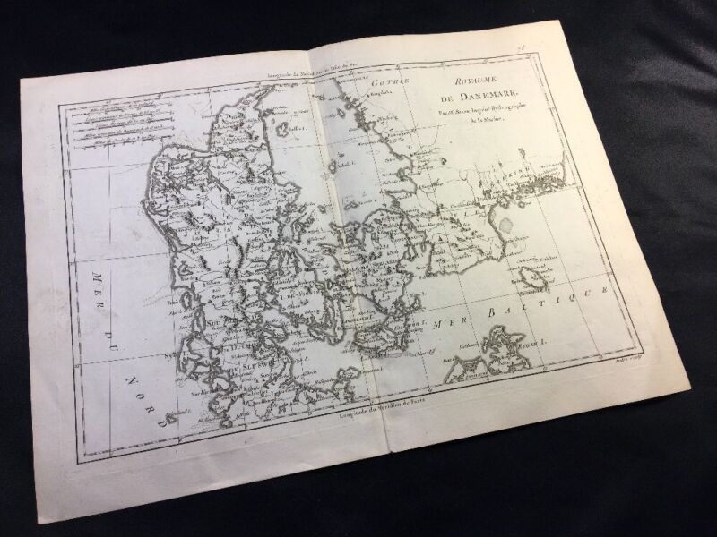 OLD MAP OF DENMARK 1788
