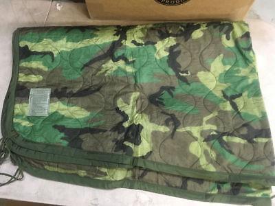 US Military Wet Weather Poncho Liner Blanket Woobie Woodland Camo IRR Grade B C Woodland Camo Poncho Liner